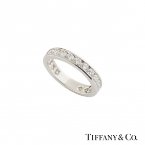 Tiffany & Co. Platinum Diamond Wedding Band 1.98ct G-H/VS2